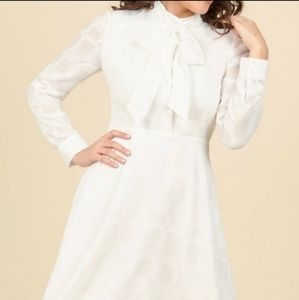 Modcloth Dignified Delivery Shirt Dress